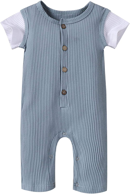 GRNSHTS Toddler Baby Denver Mall Boy Short Piece Bodysuit Max 82% OFF One Romper Sleeve