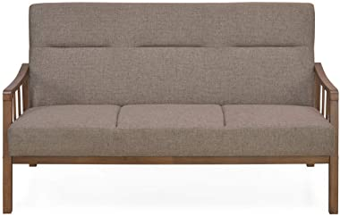 @home by Nilkamal Colette Three Seater Sectional Sofa (Brown)