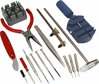 GC - 16pc Watch Repair Tool Kit Band Pin Strap Link Remover Back Opener *US FAST FREE SHIPPER*