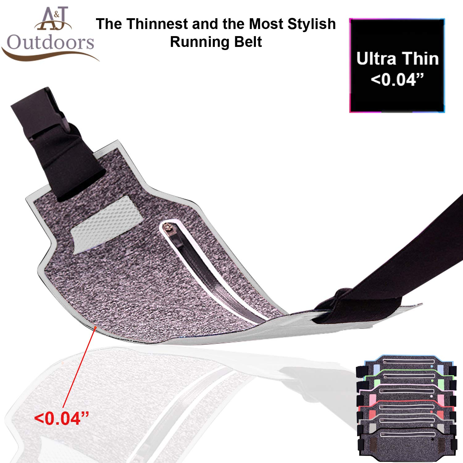 Ultra Thin Resistant Running Fannie Expandable
