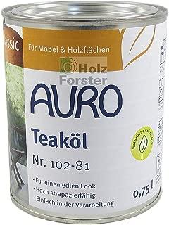AURO Gartenmöbelöl Classic Nr.102-81 Teaköl, 0,75 Liter