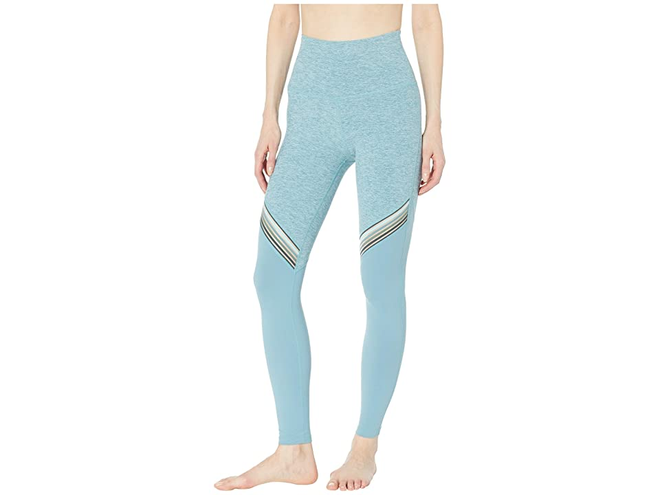 Beyond Yoga All The Filament High-Waisted Long Leggings (Blue Crush/Sky Blue Block) Women