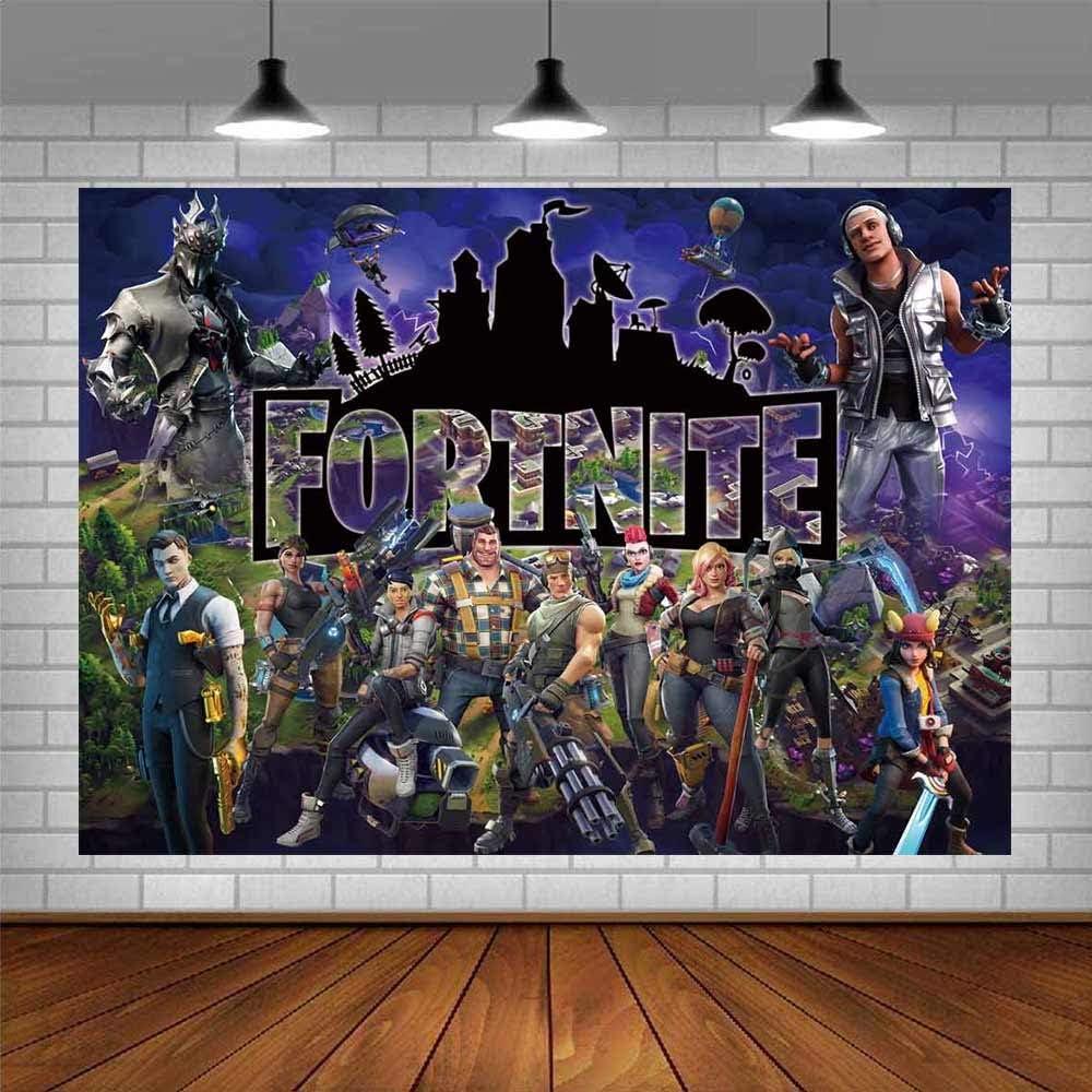 Battle Royale Backdrop Poster Video Game Party Supplies Happy Bi