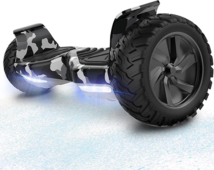 Hoverboard scooter elettrico fuoristrada scooter 8.5`` hummer led bluetooth motore potente 2 * 350w rcb B07M5SLYZT