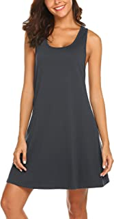 Avidlove ملابس نوم للنساء تانك ثوب النوم قميص بظهر المتسابق بلا أكمام فستان النوم