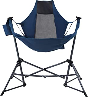 Camping World Hammock Recliner Luxury Camping Chair Portable Heavy Duty Folding Camping Chair for Adults, High Backrest Folding Swing Chair for Camping, Lawn, Beach, Supports 350lbs