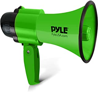 Pyle Portable Megaphone Speaker Siren Bullhorn - Compact and Battery Operated with 30 Watt Power, Microphone, 2 Modes, PA ...