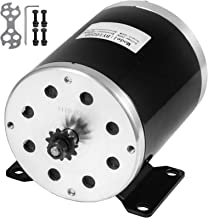 Mophorn Electric Brushed Motor 24V DC 500 Watt with 11Tooth 25Chain Sprocket and Mounting Bracket for Go Karts Scooters & E-Bike