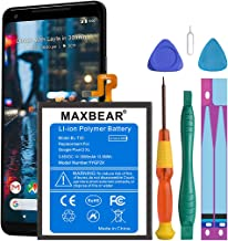 Google Pixel 2 XL Battery, MAXBEAR 3600mAh Li-Polymer Battery BL-T35 Replacement for HTC Google Pixel 2 XL (6.0'') with Repair Screwdriver Kit Tools [12 Month Warranty]
