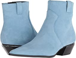 Dusty Blue Leather Suede