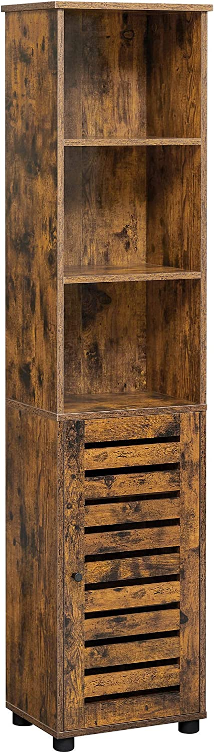 VASAGLE Bathroom Tall Cabinet Limited price sale Storage 3 Open Compa safety with