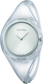 Calvin Klein Womens Quartz Watch, Analog Display and Plastic Strap