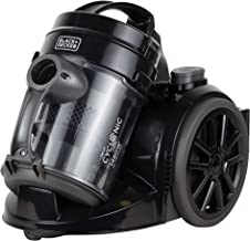 Black+Decker 1480w Bagless Multicyclonic Canister Vacuum Cleaner, Black - VM1480-B5, 2 Years Warranty