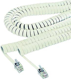Softalk 42215 Phone Coil Cord 25-Feet Ash Landline Telephone Accessory