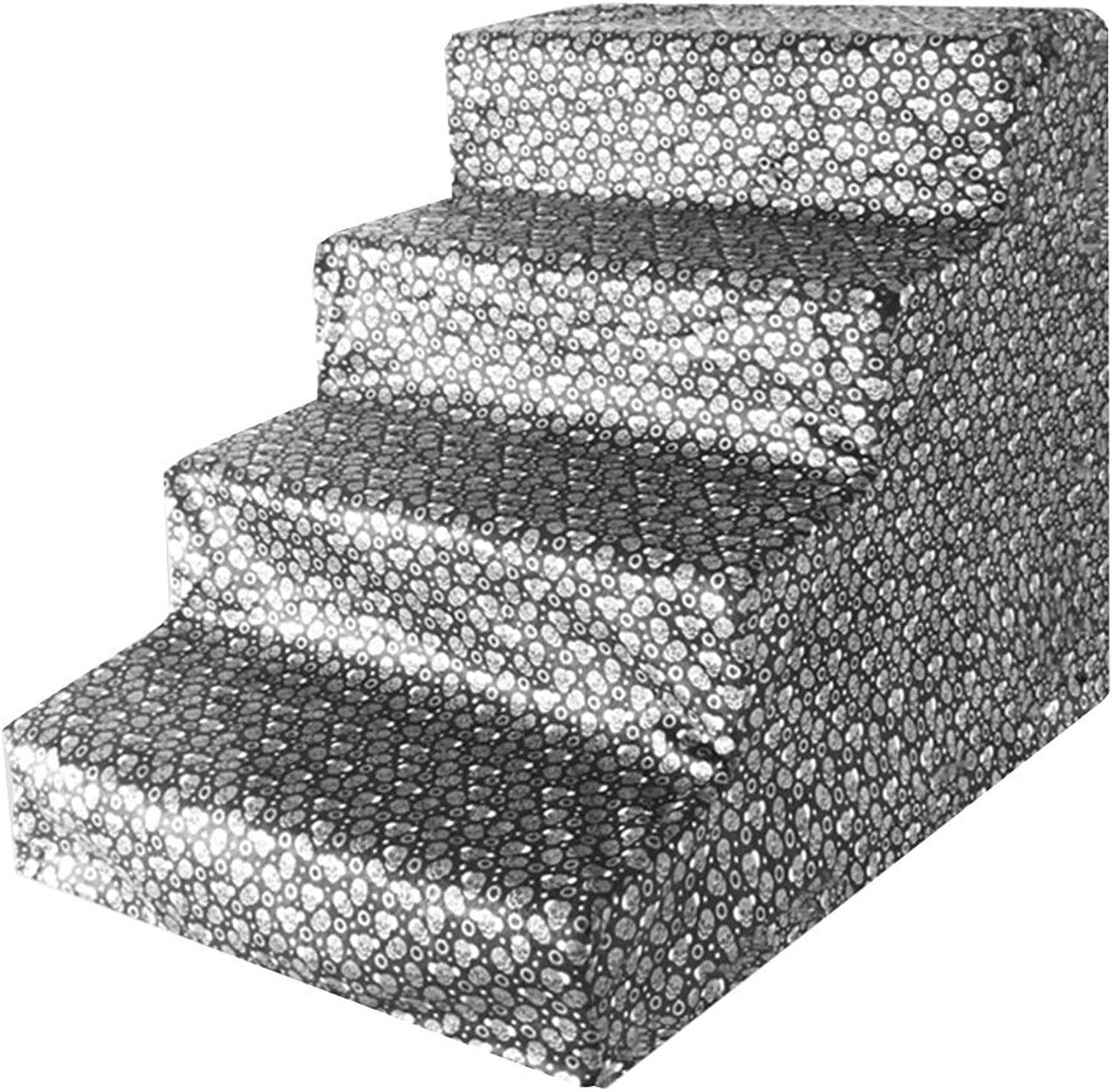 HH 3 Steps Pet Stairs with Soft Padded Covered Non Slip,for Small to Medium Pets, Easy Climb Stairs Ladder Assistance