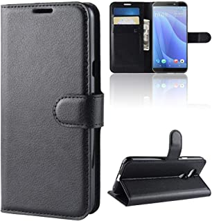 5803a55abcf975 DISLAND HTC Desire 12S Case  Card Holder  Litchi Leather Slot Wallet Stand  flip Cover