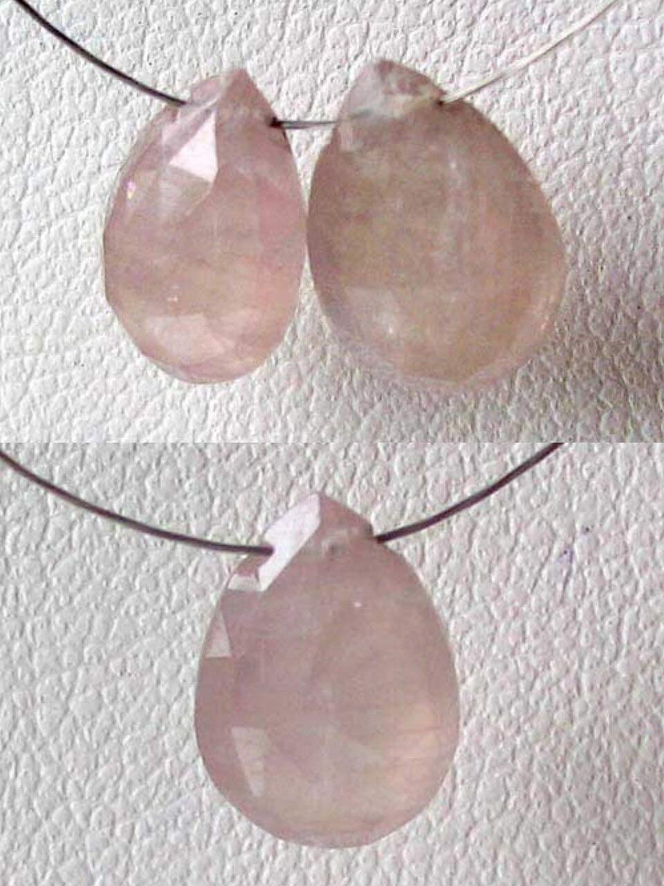 1 Peach Sapphire Faceted Jacksonville Mall Briolette Arlington Mall Bead 2.78 Jew for Carats 6925