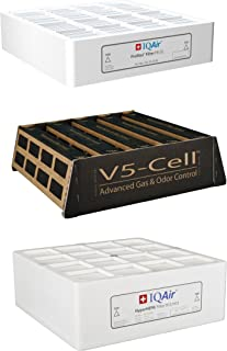 IQAir Genuine Original HealthPro Plus 3-Filter Replacement Bundle [PreMax F8, V5-Cell Gas & Odor Control, HyperHEPA - Medical-Grade Air] Swiss Made