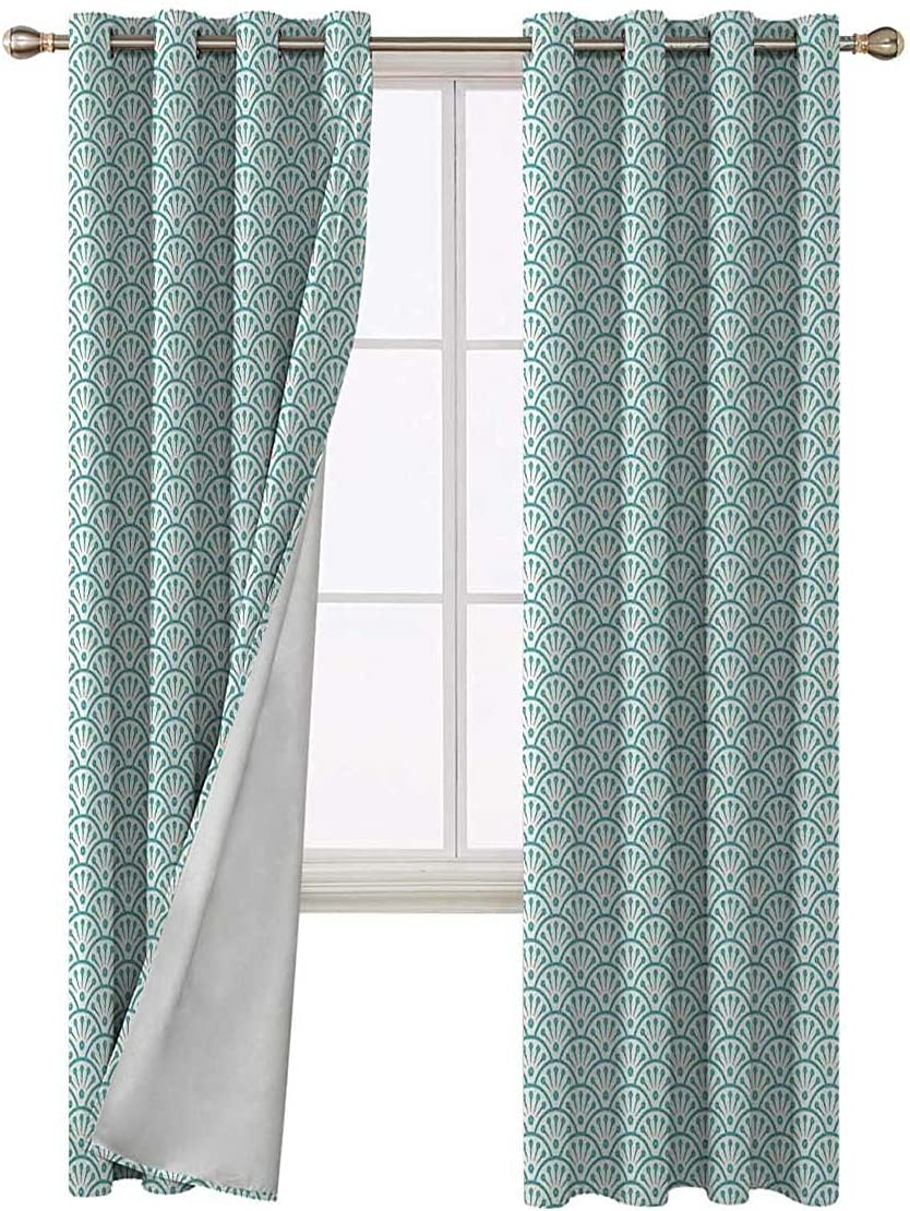 Window Curtains Bombing new work for Bedroom 96 Selling rankings Length Floral Sea Inspired Inch