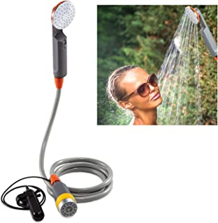 Ivation Portable Camping Shower | Compact Handheld & Hands-Free Rechargeable Outdoor Shower Head & Cleaning System w/ 3.7V...