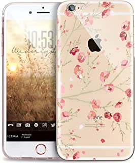 iPhone 8 Custodia iPhone 7 Cover JAWSEU Moda nuovo Arte Ricamo