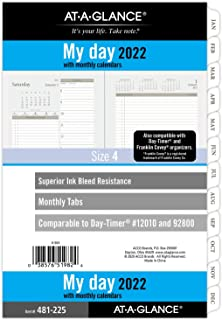 "$22 » 2022 Daily Planner Refill by AT-A-GLANCE, 5-1/2"" x 8-1/2"", 12010 Day-Timer, Size 4, Desk Size, Two Page per Day, Loose-Lea..."