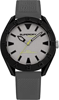Superdry Osaka Men Analogue Watch With Grey Dial And Grey Silicone Strap - SYG243EE