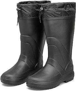 LINGZE Bottines à Lacets avec Fourrure Chaude, Chaussures Hautes imperméables en Plein air, Bottes de Neige d'hiver pour T...