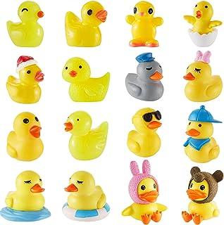 32 Pieces Miniature Duck Figurines Cute Mini Duck Figures Duck Tiny Rubber Ducks Slime Charm for Bath Birthday Present Gar...