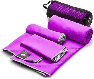 OlimpiaFit Microfiber Towels - Quick Dry 3 Size Pack...