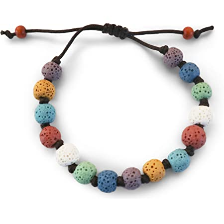 Lava Bead Bracelet Meditation Jewelry Gift, Aroma Diffuser Jewelry Amethyst Aromatherapy Bracelet Essential Oil Diffuser Healing Stones