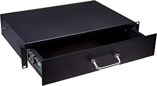 CNAweb 2U 19 Inch Rackmount Storage Drawer Box for IT Network Data Cabinet