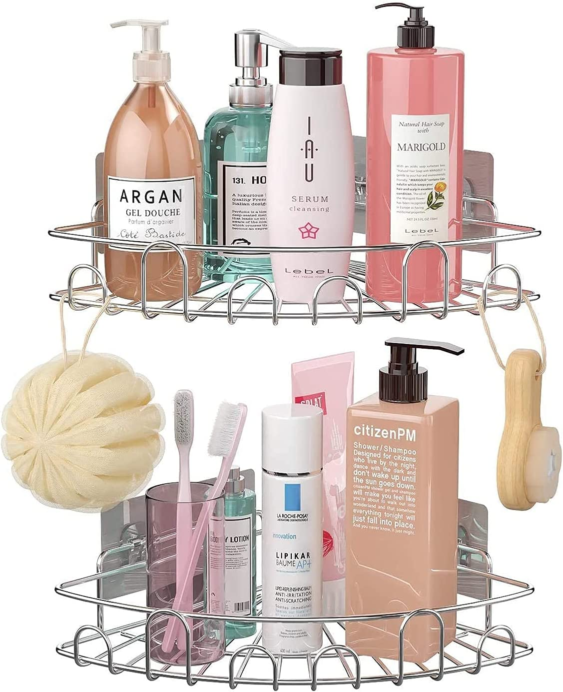 LYANXI Shower Corner Shelf 2 Drill No Bathroom Kansas City Mall Direct stock discount Showe Pack
