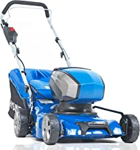 Sponsored Ad – Hyundai 40v Lithium-ion Cordless Battery Powered Lawn Mower 42cm Cutting Width 45L Grass Bag With Battery &...
