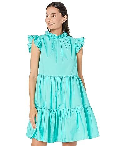 Tahari by ASL Cotton Poplin Tiered Dress with Ruffle Detail