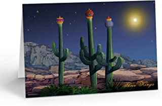 Three Wise Cacti Christmas Card - 18 Western Christmas Cards &19 Envelopes