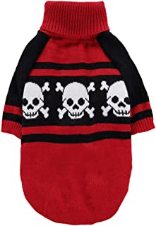JJ Store Pet Sweater Winter Autumn Warm Clothing Small Dog Cat Skull Clothing Puppy Apparel Coat