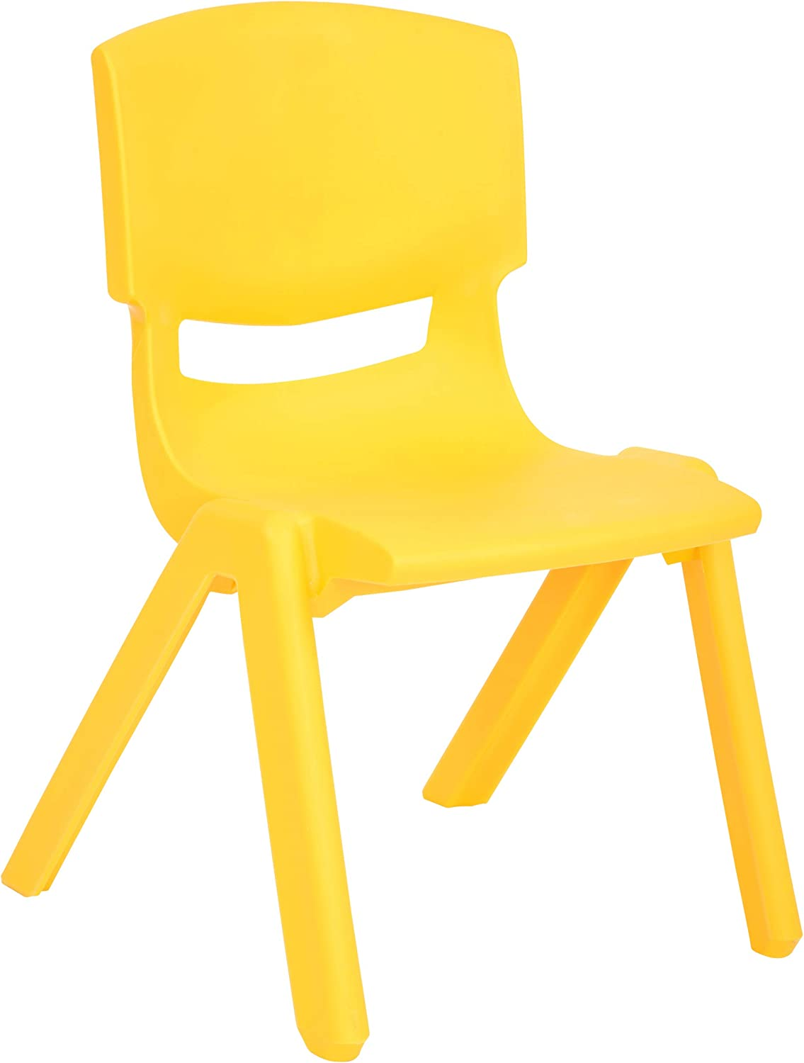 JOON Stackable Plastic Kids Learning Chairs, Yellow, 20.8x12.5 Inches