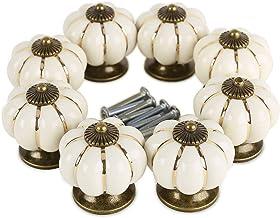 *Verzending vanuit Duitsland bij Sofortdeins* 8 Design wit pompoen porselein knoppen meubelgrepen meubelknop luxe