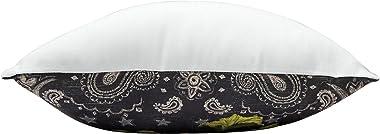 Home& Garden Fern & Frog Garden Botanical Garden Premium Indoor/Outdoor Decorative Accent Throw Pillow 18 x 18 Multi