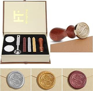 Wax Seal Stamp Kit,Mingting Vintage Wax Stamp Seal Kit Initial Letters Alphabet (S)
