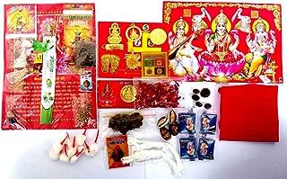 JP PRODUCTS 30 Item Diwali Deepawali Puja Pooja samagri sampuran Puja samagri Kit (1 Quantity)