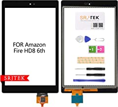 SRJTEK for Amazon Kindle Fire HD8 6th PR53DC New Touch Screen Digitizer Glass Replacement Black
