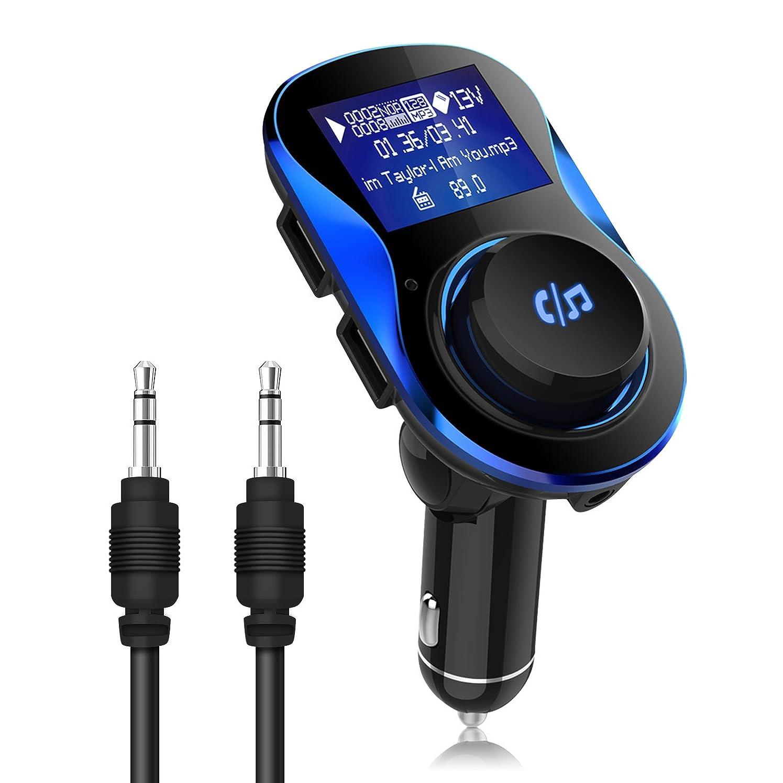 セラー偽装する技術者FMトランスミッター Nesbull 車載FM Bluetooth 急速充電 高音質 シガーソケット増設 ハンズフリー通話
