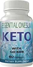 Essential Oneslim Keto Diet Pills Advanced One Slim Energy Ketones with Go BHB Capsules Ketones Ketogenic Supplement for W...