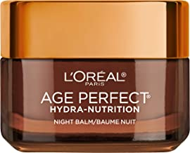 Night Cream by L'Oreal Paris, Age Perfect Hydra-Nutrition Night Balm Face Moisturizer with Manuka Honey Extract and Nurturing Oils to Comfort and Improve Resilience on Dry Skin, Paraben Free, 1.7 oz.