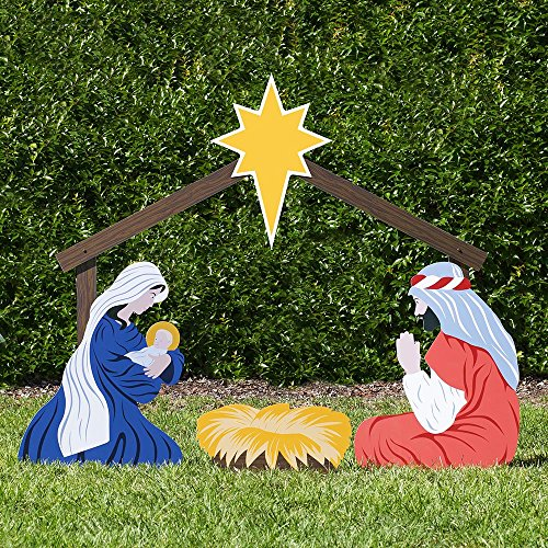 Colorful Nativity Best Christmas Yard Decorations