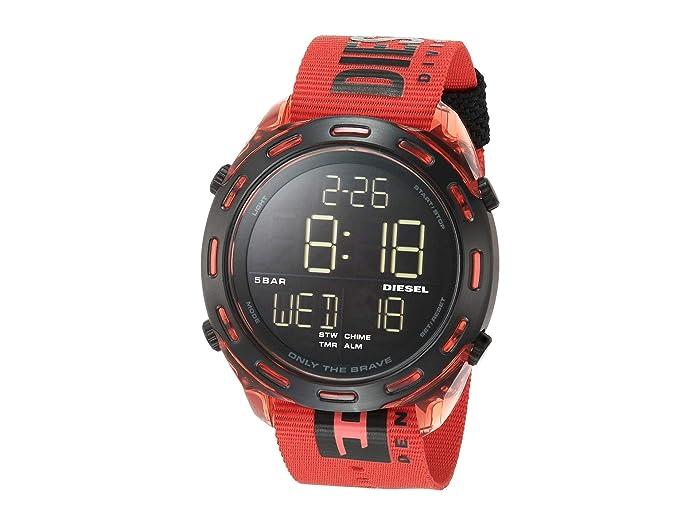Diesel  Crusher Digital Watch (Red) Watches