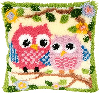 Beyond Your Thoughts 13 Model Latch Hook Kits for DIY Throw Pillow Cover Sofa Cushion Cover Owl/Dog/Cat/Bear/Bird with Pattern Printed 16X16 inch BZ644