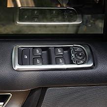 LHSUNTA ABS Copertura Porta Pulsanti Finestra Argento Opaco Trim Compatibile con Accessorio Discovery 4 LR4 2009-2016 RR Sport 2010-2013